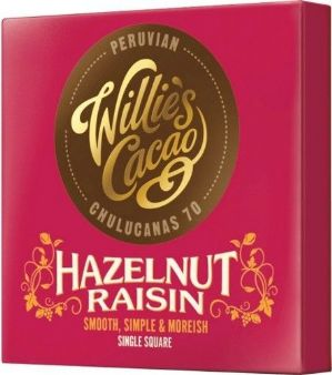 Willie's Cacao Hazelnut Raisin Dark Chocolate 50g